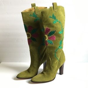 NWT Imagine Vince Camuto Suede Green Boots